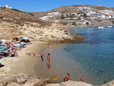 Mykonos gay beach schwuler Strand Elia
