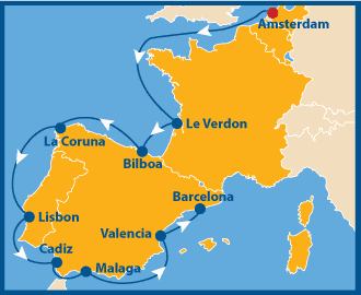 Amsterdam Barcelona schwule Kreuzfahrt gay Cruise Atlantis