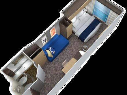 Odyssey Innenkabine virtueller Balkon schwule Kreuzfahrt