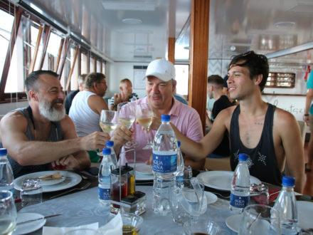 gay cruise Croatia Yacht Restaurant