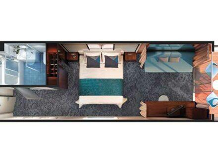 Kabinenplan Norwegian Jade Minisuite gay Cruise